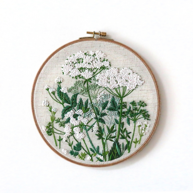 parsley record embroidery 215mm