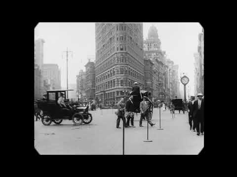New restoration of a 9-minute silent film of NYC street life from 1911