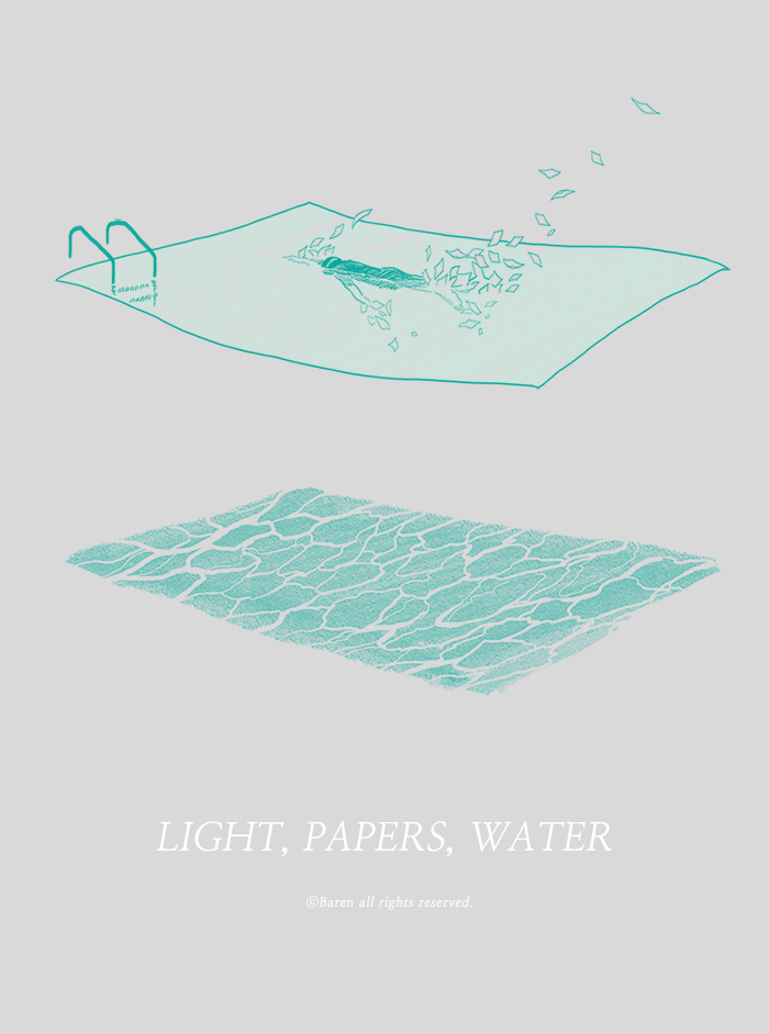 light, papers, water 03
