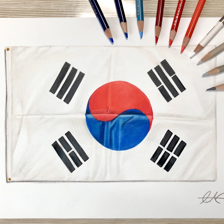 How To Draw : Korean Flag