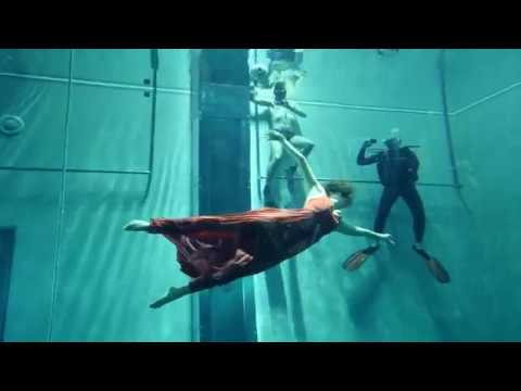 Freediving Dance Show with Marina Kazankova in Y-40 The Deep Joy, the world's deepest pool.