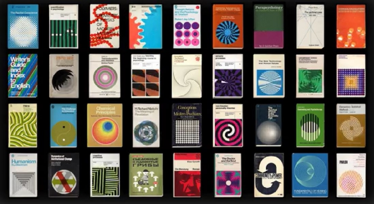 series of 66 animated vintage book graphics