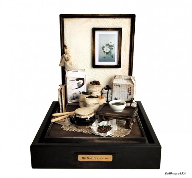 Traditional oriental Herbal Medicine Miniature Set