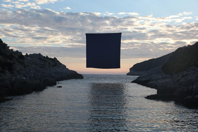 Interface: Hangs A Monumental Square Of Blue Above The Mediterranean