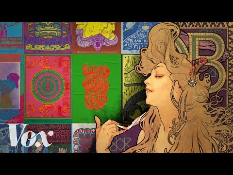 How Art Nouveau Inspired the *Psychedelic Designs of the 1960s