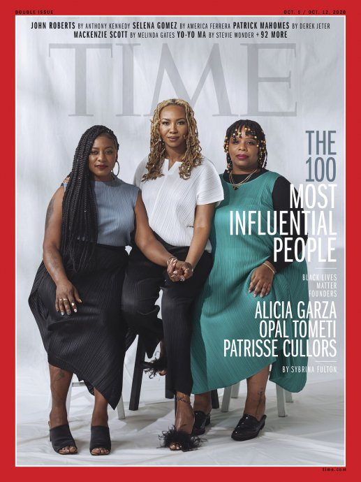 Julie Mehretu, Patrisse Cullors, and Tourmaline are among Time magazine's most influential people of 2020.