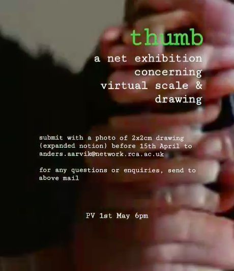 a net exhibition concerning virtual scale and drawing